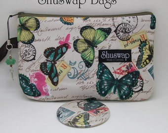 Butterfly Wristlet and Mirror Set