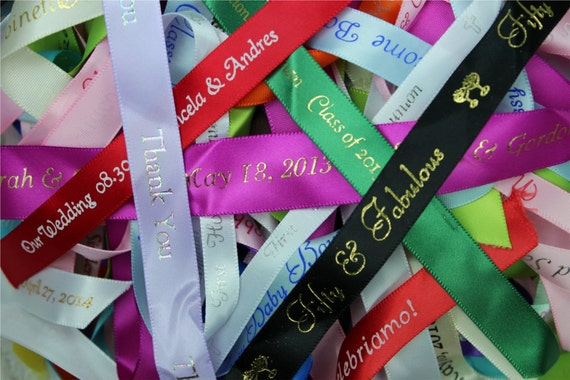 Personalized ribbon