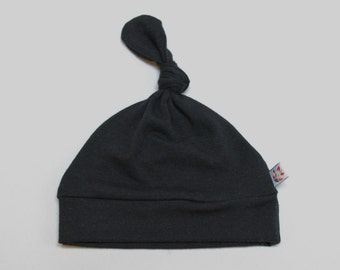 Black Bamboo Beanie Knot Hat 4 sizes