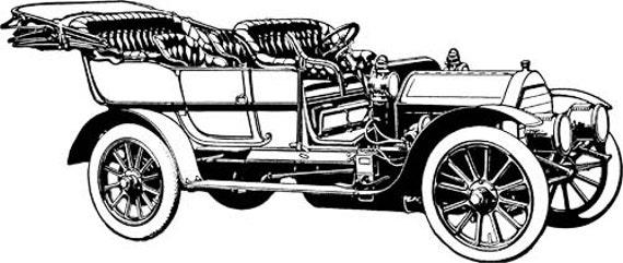 old classic convertible car printable art Digital graphics image download png jpg clipart antique automobile digital stamp art printables