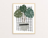 ON SALE! Monstera Two Sizes - Print Or Poster