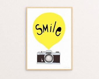 Smile Yellow 30 x 40 Print