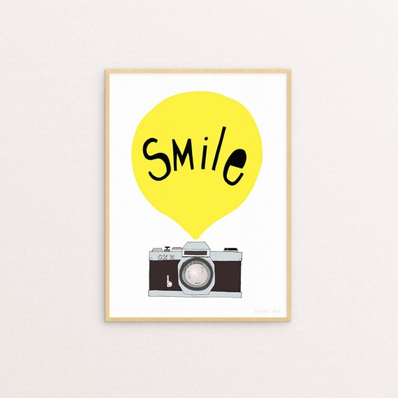 Smile Yellow 30 x 40 Print