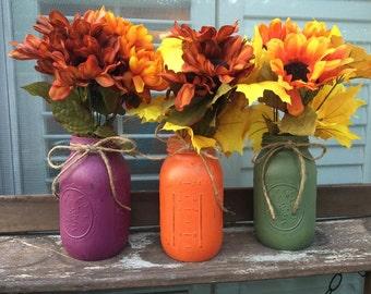 Fall/Rustic Mason Jar Centerpiece