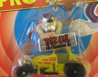 Tasmanian Devil TAZ Car Matchbox Diecast Looney Tunes Comics 1993 PRO RACER Cartoon Character Gift Rare Oil Sprint Car
