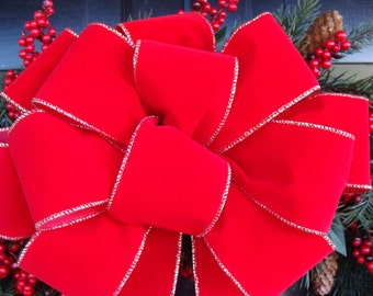 Christmas Bow, Christmas Decoration, Christmas Decor, Wreath Bow added to Christmas Wreath, Outdoor Bow, Waterproof, Weatherproof