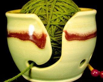 Yarn Bowl - Small Knitting Bowl - Yellow Yarn Bowl - Gift for Knitters - YarnBowl - Yarn Ball Holder - Yarn Storage - Knitter Gift -InStock