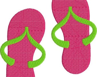 SALE 65% off Flip Flops Sandals with fill Machine Embroidery Design 4x4 and 5x7 Instant Download