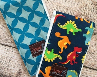 Dinosaurs Burp Cloth Set of 2