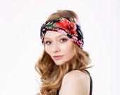 Boho Chic Turban Headband- Turband- Headwrap- Hair Accessory- Hawaiian Floral Headband- Fall Fashion- Boho Style- 1920s- FREE SHIPPING