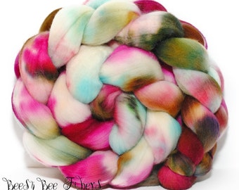 PATHWAY - Domestic Merino Hand-Dyed Hand Painted Combed Top Wool Roving Spinning Felting Fiber - 4.1 oz