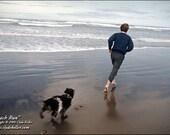 Robert F. Kennedy, BEACH RUN, Oregon Coast, Clyde Keller photo, Fine Art Print, Color, Signed, Treasury
