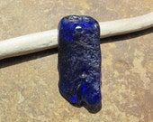 PRETTY BLUE Beach Glass Pendant Sea Glass Bead Charm 3mm
