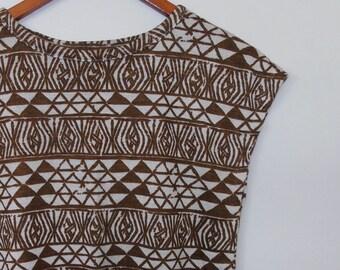 geometric...vintage knit t-shirt dress