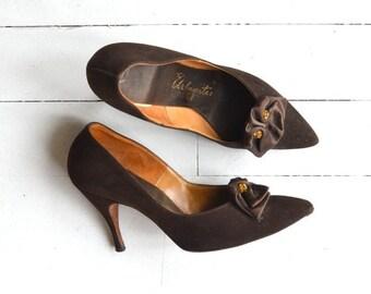 25% OFF SALE Tour de Ville heels | vintage 1950s shoes | 50s stilettos 7