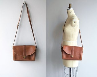 1970s Coach crossbody bag | British Tan Coach purse | brown leather 70s Coach shoulder bag