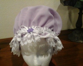 Lavendar Poleyester Large and Medium with Poleyester Lace Free Shipping