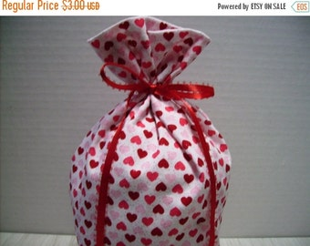 July Sale Gift Bag Hearts Red Pink Glitter