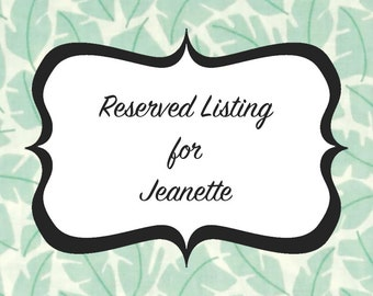 Reserved Listing for Jeanette - Bridesmaids Dresses