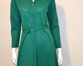 Vintage Dress Girl Loves Green 1960's