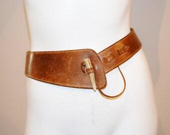 Vintage Belt English Leather with Slip Closure