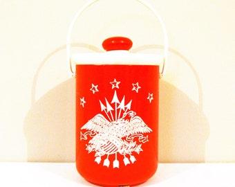 Vintage Ice Bucket The Americana Eagle 1960's