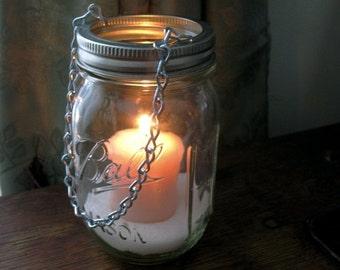 Sale Hanging Mason Jar Luminary, Jar lantern, Hanging Mason Jar Flower Vase, Church Pew Hook,  Mason Jar Wedding Decoration farmhouse decor