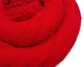 Cashmere Knitting Yarn - Recycled Lace - Knitting Yarn - Candy Apple 180216