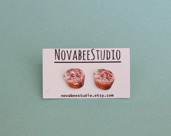 Yummy Cupcake Earrings, cupcake studs