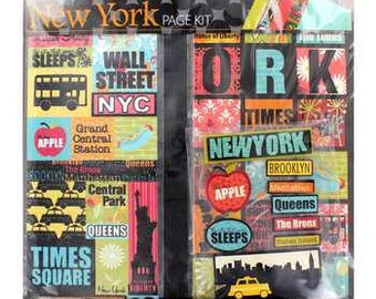12x12 Scrapbook Page Kit - NEW YORK, Big Apple, Times Square, Statue of Liberty