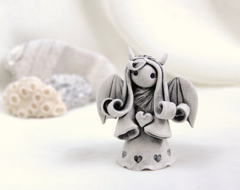Little Demon with heart - Hand Made Ceramic Eco-Friendly Home Decor by studio Vishnya