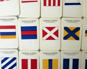 Vintage Signal Cards, Semaphore Cards, Nautical Communications, Mariner Signals, International Pennants, Sailing Signals, Semaphore Morse