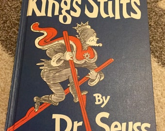 Dr. Seuss The Kings Stilts 1967 Vintage Childrens Book