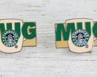 Starbucks Pins MUG Set of 2 destash Repurpose Upcycle