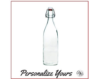 Custom Swing Top Glass Bottles - Round - Personalize Yours