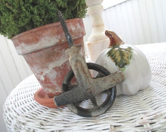 Vintage Wheel * Old Farmhouse * Caster * SALVAGE *  Shabby Cottage * Rustic * Home Decor