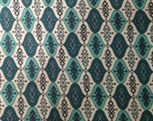 Reserved 3 yards 36 wide 50s cotton print dressmaking fabric