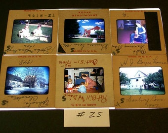 Kodachrome Slides 1940s 50s Mixed Lot Of 12 / No.25