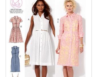 M6696 Misses Shirt Dress Sewing Pattern - McCalls 6696 Dress Pattern