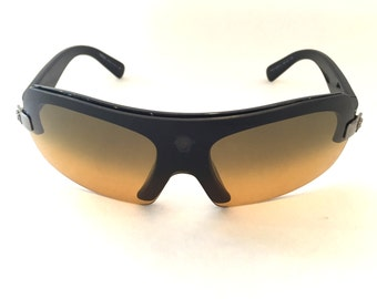 Vintage sunglasses retro sunglasses versace sunglasses Brown sunglasses Designer Sunglasses vintage versace frames