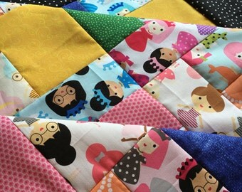 Unfinished top - Quilt Top - baby sized - Girl Friends by Ann Kelle - Robert Kaufman
