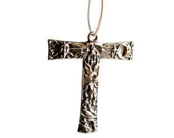 Franciscan Tau Cross Sterling silverTau cross of St Francis  solid sterling silver Pendant
