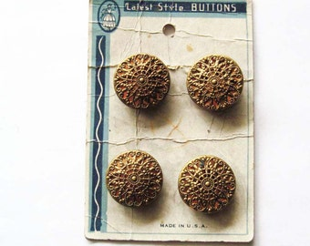 Vintage Mirror Back Twinkle Button, Button Card