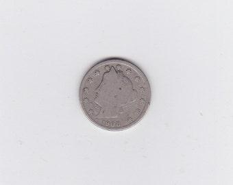 1908 Liberty head or victory nickel