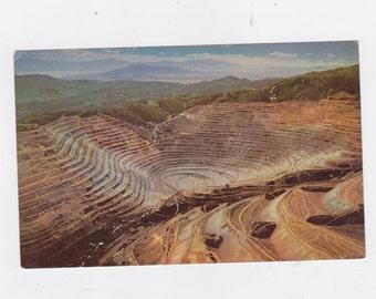 Bingham copper mine Utah post card