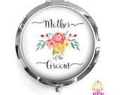 Mother of the Groom Compact Purse Mirror, Mother of the Groom Gift, Personalized Mirror, Purse Mirror Style 673