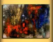 Art painting wall art abstract painting modern art large art painting oil painting acrylic painting 40 x 30 Mattsart