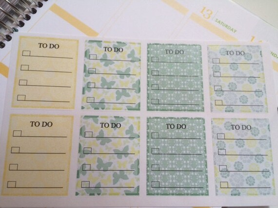 Stickers 8 Planner Stickers Boxes To Do Reminder Stickers Perfect For Erin Condren Life Planners