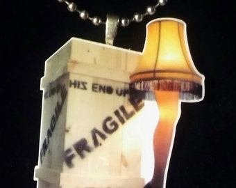 Christmas Story Fragile Leg Lamp Necklace