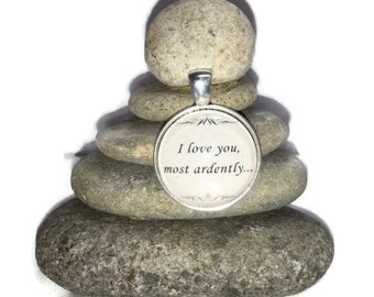 I Love You, most ardently Rock Cairn, Zen Garden, Wishing Stones, Pride and Prejudice, Mr. Darcy, Loved One, Spouse, Jane Austen